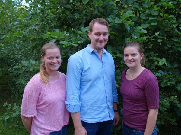 Das Foto zeigt von links: Dörthe Geers, Tobias Hilbrath und Christina Winkler